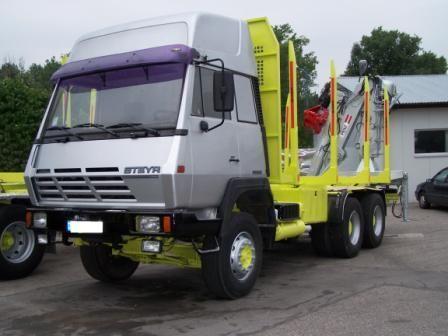 Steyr 6x4 do transportu drewna