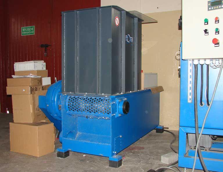 rębak do odpadów stolarskich- maszyna demonstracyjna