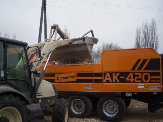 zrębkowanie odpadów, zrębki biomasa wierzba