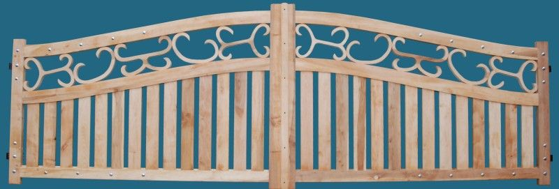 drewniane bramy dwuskrzydłowe i ogrodzenia