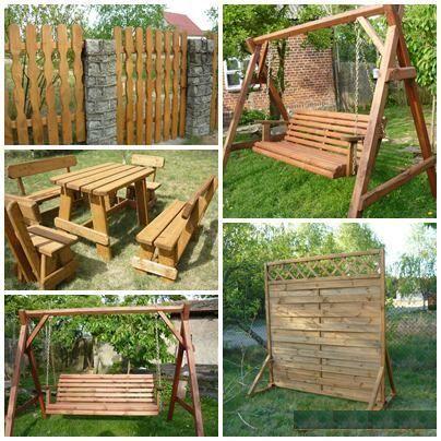 meble ogrodowe, ogrodzenia, drzwi