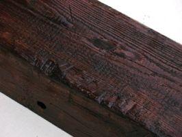 Belki rustykalne drewniane