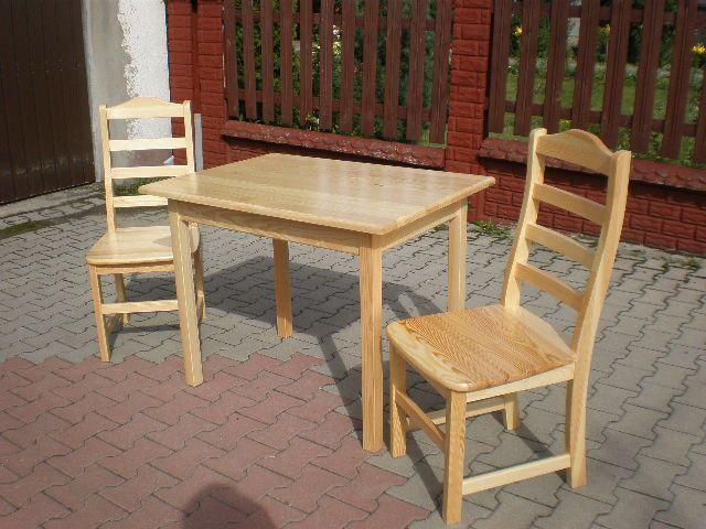 stoły i krzesła sosnowe