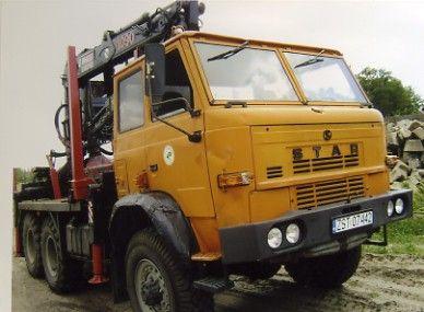 samochód Star266 z żurawiem