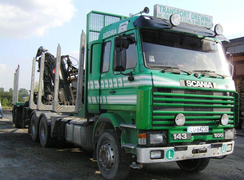 SCANIA R143 z HDS do drewna - dźwig JOSERED-HIAB