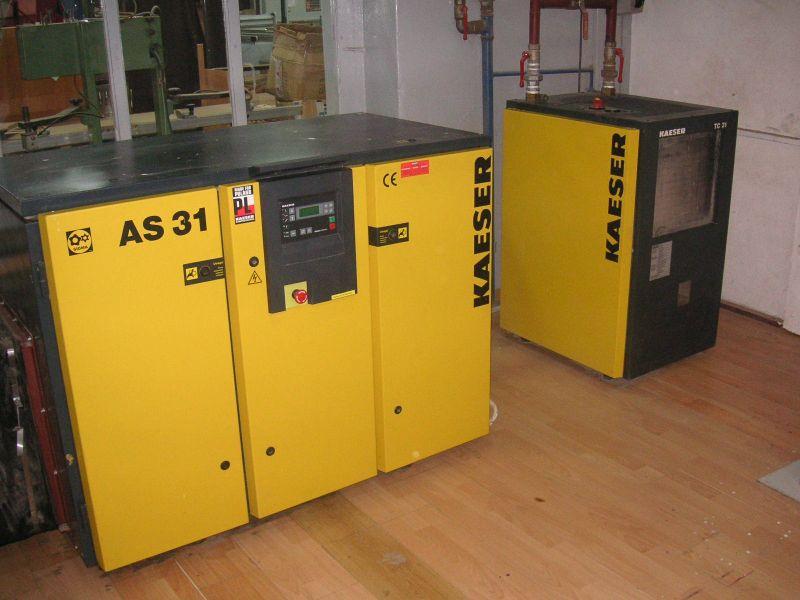 Sprężarka śrubowa KAESER AS31+osuszacz+zbiornik