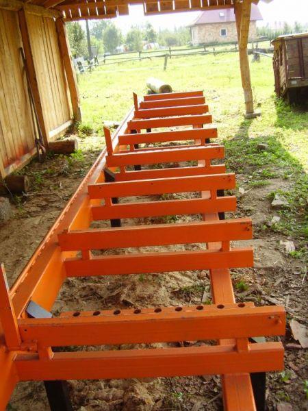 Trak wood-mizer - przedłużka przedłużenie łoża 7 metrów