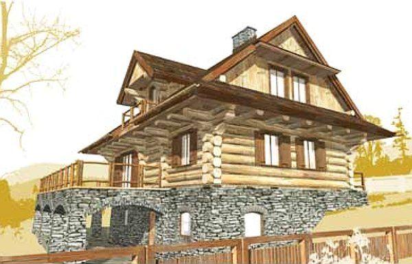 nowy dom z bali w Beskidach