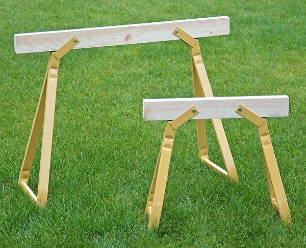 koziołek drewniano-metalowy