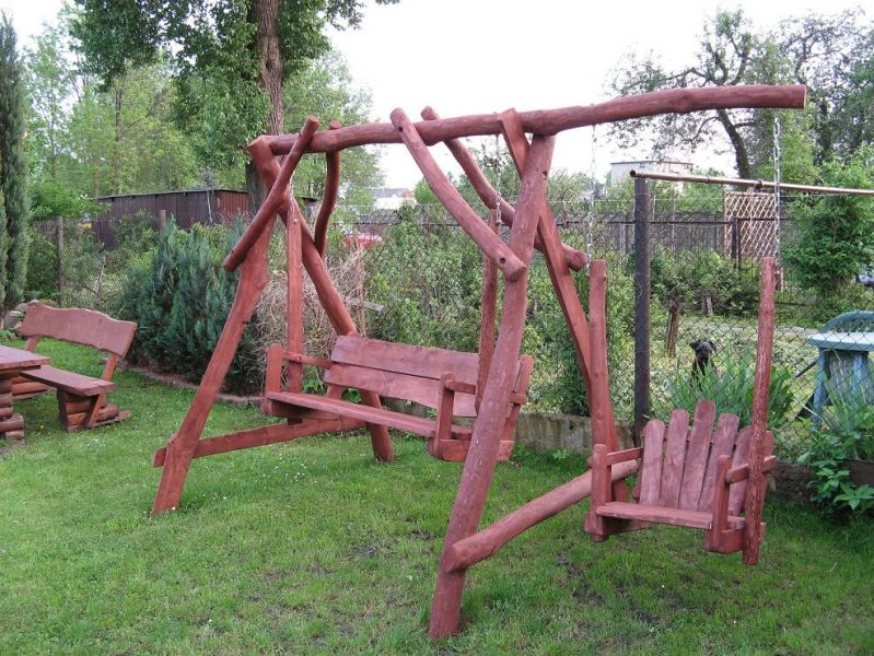 Hustawka Ogrodowa Z Drewna Egzotycznego : Hustawka ogrodowa  Ogłoszenia branży drzewnej  Giełda DREWNOPL