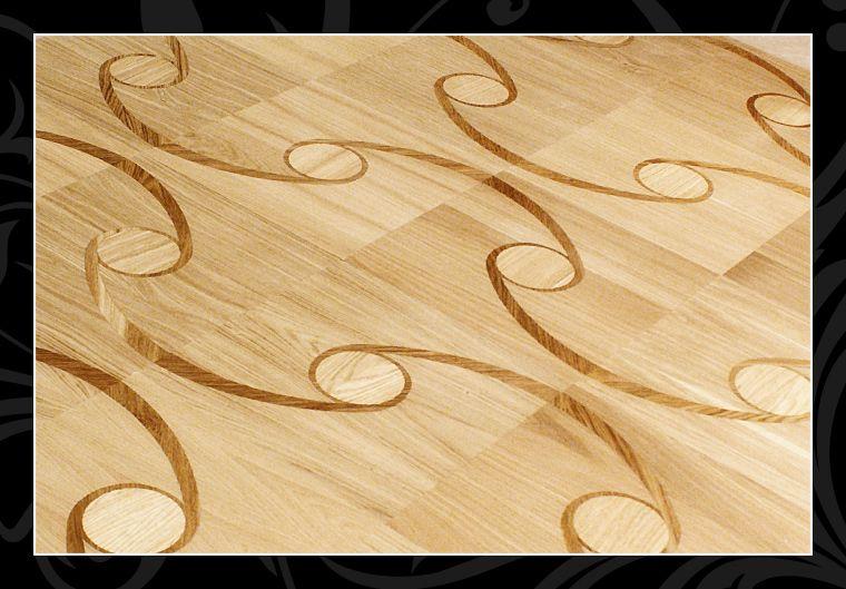 Podłogi drewniane intarsjowane