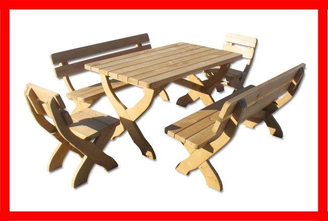 Stół, 2 ławki, 2 krzesła  Najtaniej!!!  Producent