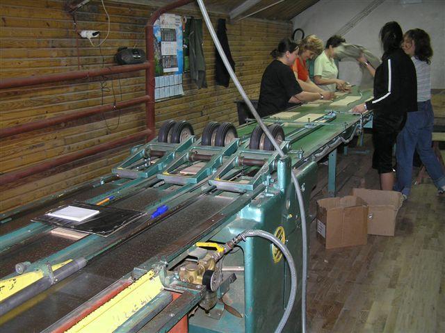 Kompletna linia do produkcji mozaiki parkietowej WEINIG