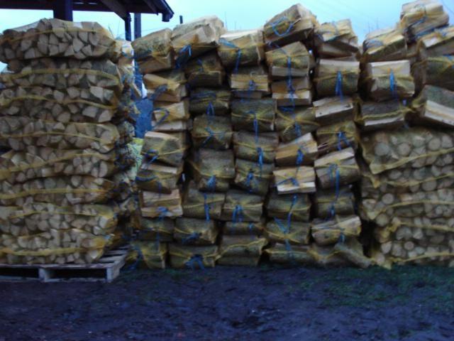 drewno opałowe sosna modrzew w workach raszlowych