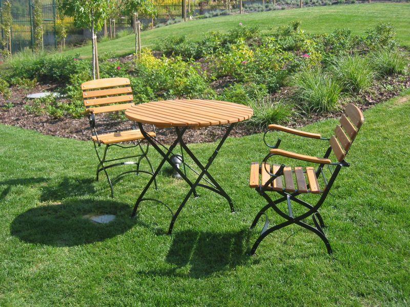 Meble ogrodowe, elementy drewniane