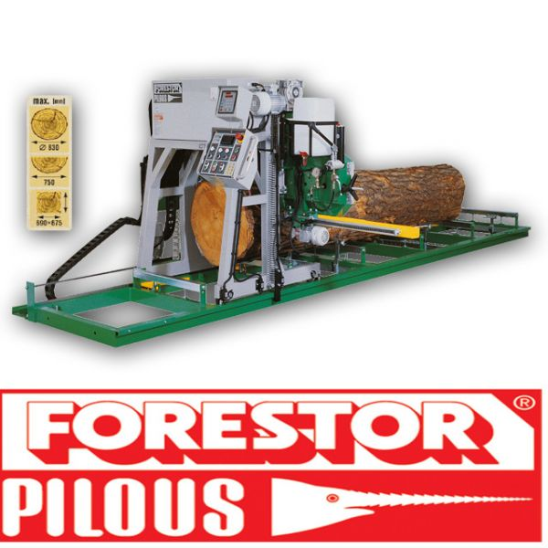 Trak taśmowy CTR 800  Pilous Forestor