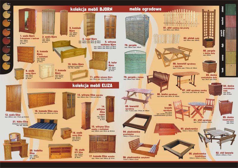 Łóżka, meble sosnowe i olchowe, PRODUCENT