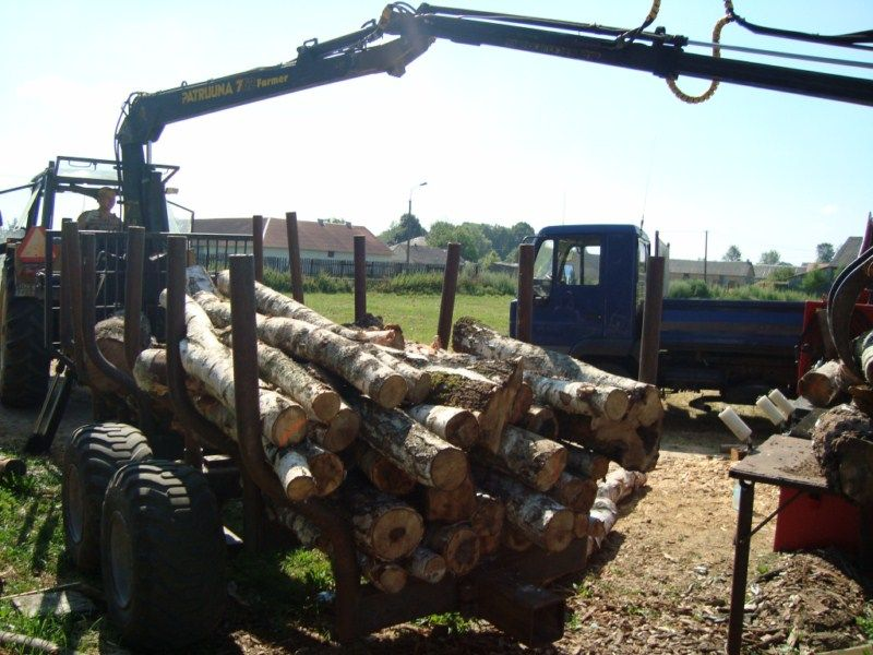 Przyczepa do drewna JUNKKARI -PATRUUNA 762 Farmer