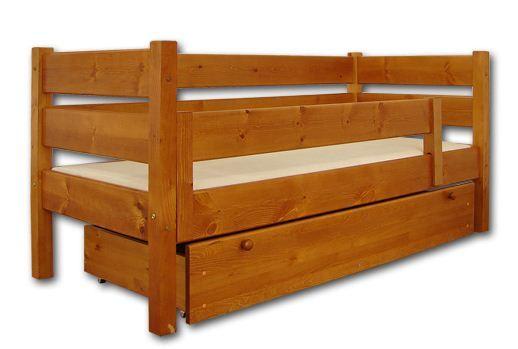 Łóżka dziecięce drewniane pojedyncze i piętrowe