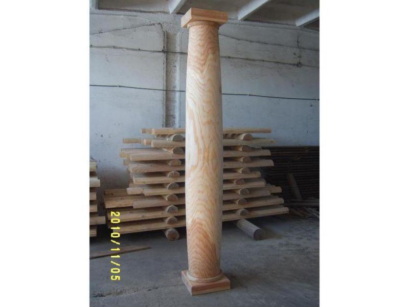 Bale toczone, filary, kolumny drewniane