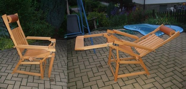 Krzesło i leżak w jednym