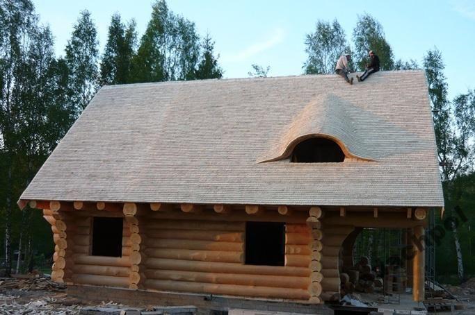 Domy z bali syberyjskie Dachy z wióra