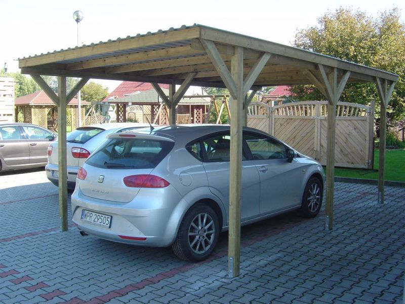 Wiata garażowa - carport   (art. nr 60538)   1550 ZŁ. BRUTTO