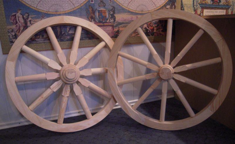 ozdobne koła drewniane