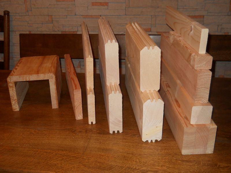drewno profilowane kantówki deska elewacja ściany