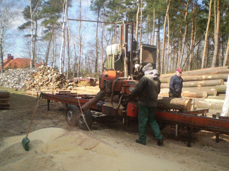 Świadczę usługi trakami przejezdnymi wood-mizer LT-70, spalinowymi z pełną hydrauliką