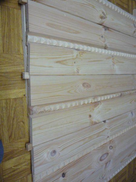 Elewacje drewniane z ozdobą imitującą warkocz