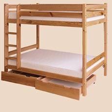 sosnowe łóżka piętrowe