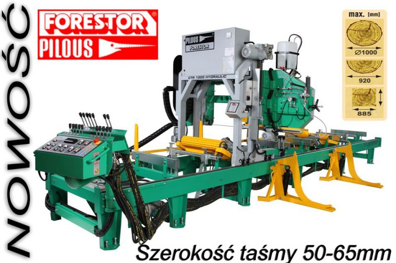 Trak taśmowy 1000 Hydraulik Pilous Forestor
