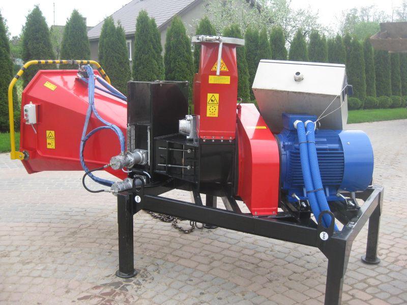Rębak Skorpion 250E silnik 45kW elektryczny