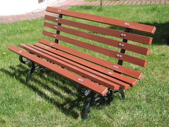 Ławka Ogrodowa Z Ekodesek Drewno Pcv Bez Malowania