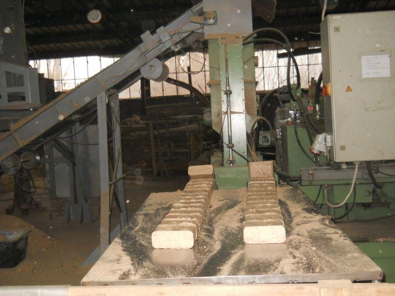 Linnia produkcyjna brykietu RUF prod.2006,  900kg/h