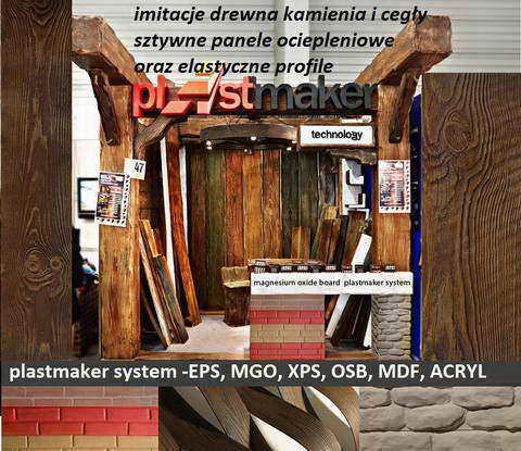 imitacja drewna na elewacji PLASTMAKER - imitacja cegły kamienia drewna elastyczne panele elewacyjne, ścienne