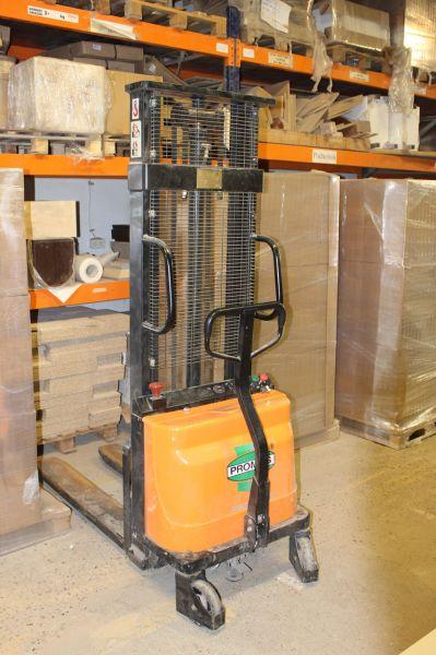 Wózek jezdniowy podnośnikowy ręczny z podnosz elektr. PROMAG PRE 1000/3000