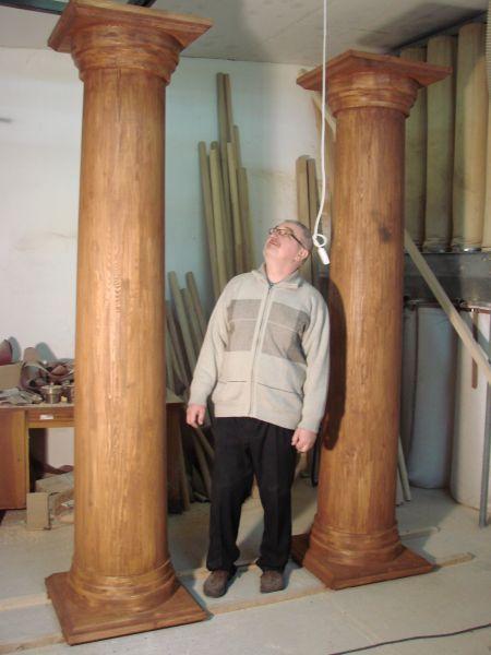 Kupię kolumny drewniane