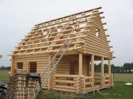 Bale toczone, drewno budowlane