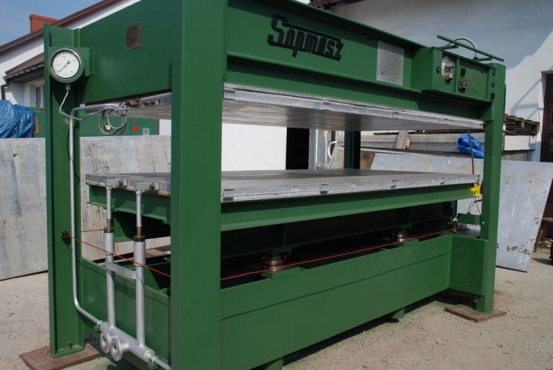 PRASA hydrauliczna SOPMASZ 2550 x 1300, oraz Prasa przelotowa 3000 x 1350 OTT