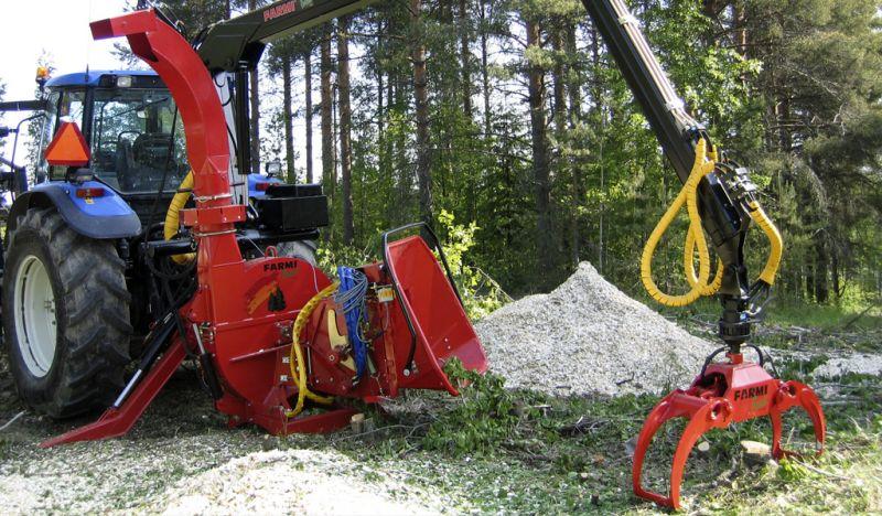fińskie rębaki Farmi Forest CH260HFEL+żuraw HK4067