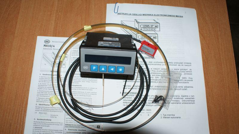 Miernik elektroniczny bezstykowy do traków taśmowych