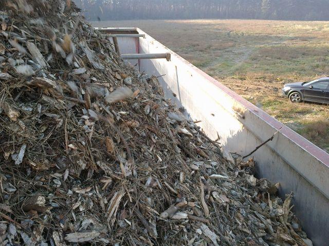 Stały skup zrębki leśnej na Niemcy przez koncern UPM Kymmene.