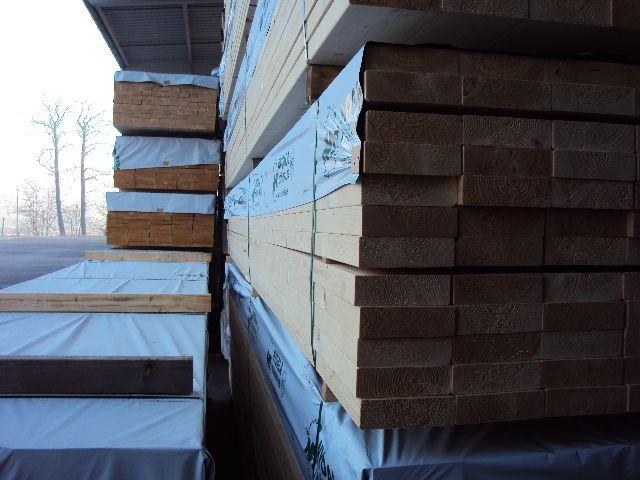 Drewno budowlane, suszone,strugane,certyfikowane.