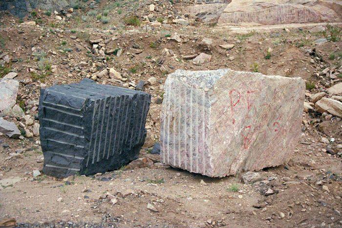 Ukraina.Kopalnia granitu.Bloki,kostka gabro 180 zl/tona