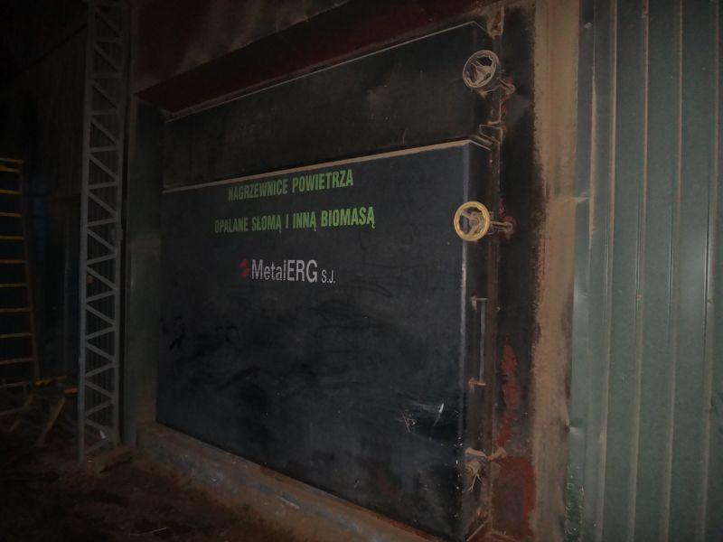 OKAZJA - Nagrzewnica powietrza na słomę i inną biomasę do suszenia METALERG typ EKOPAL S 1000 KW