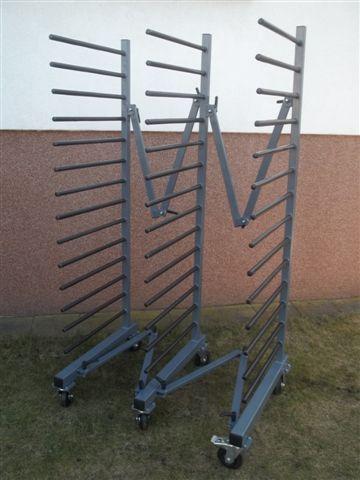 HUSARZ Wózek - Regał lakierniczy do suszenia elementów