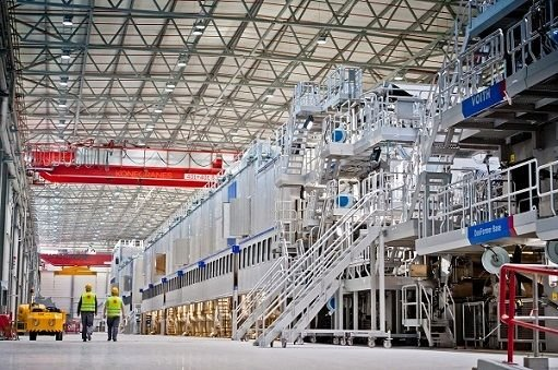 Linia produkcji papieru MP5 w Ostrołęce