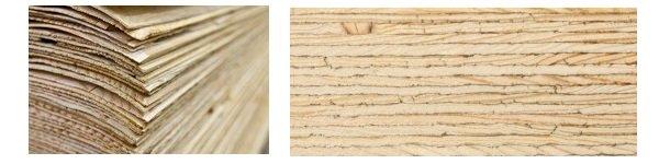 Produkt składa się z wielu warstw, sklejonych ze sobą trwale fornirów sosnowych i świerkowych o grubości ok. 3 mm